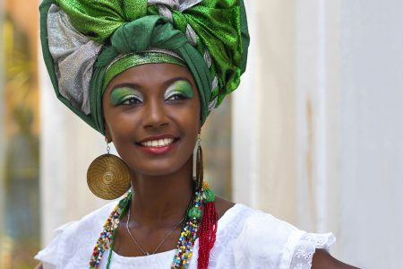 baianaise en costume traditionnel