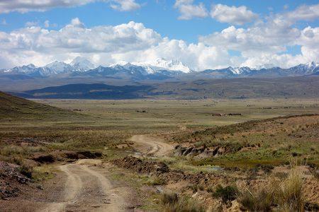 la cordillère Royale depuis l'altiplano