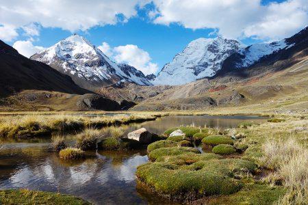 rando Bolivie, face au Huayna Potosi