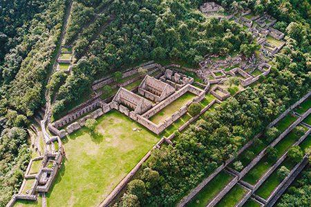 vue aérienne de Choquequirao