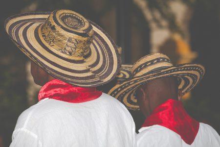 danseurs coiffé du vueltiao, chapeau typique en Colombie