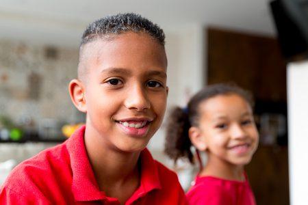enfants dans une école de San José