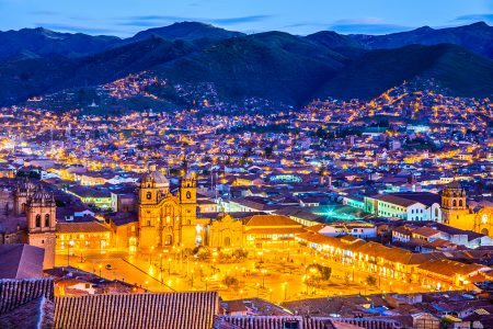 vue de Cusco la nuit
