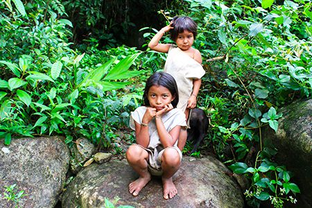 enfants kogi, Colombie