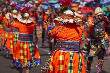 danseurs de tinku, pendant la fête du gran poder