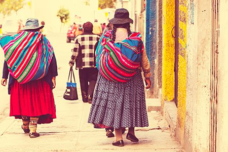 cholitas dans les rues de La Paz