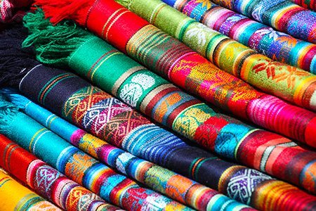 textiles, marché d'Otavalo