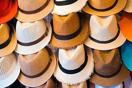 chapeaux panama à Otavalo