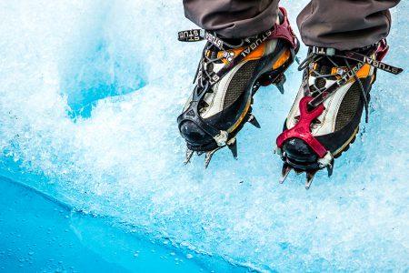 marche sur glacier, crampons obligatoires