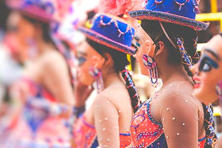 danseuses de morenada au carnaval d'Oruro