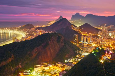 Rio by night depuis le pain de sucre