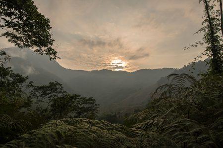 coucher de soleil, Sierra Nevada Santa Marta