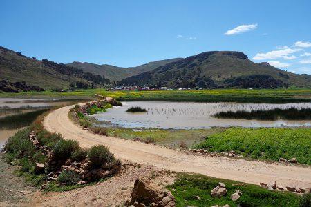 lac Titicaca, paysage de la partie mineure