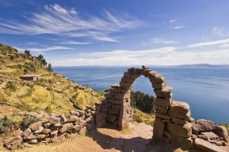 images aériennes du lac Titicaca